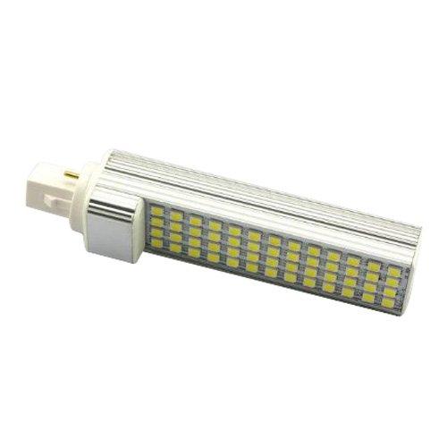 SODIAL AC110V-220V G24 5050 SMD 52 LED Bombilla de lampara de luz blanca fresca 11W
