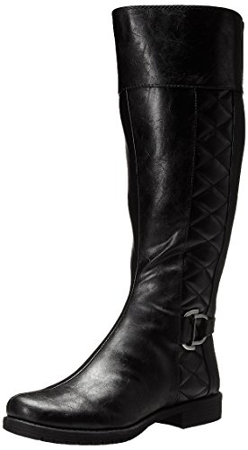 LifeStride Women's Marvelous WS Riding Boot, Black, 6 M US