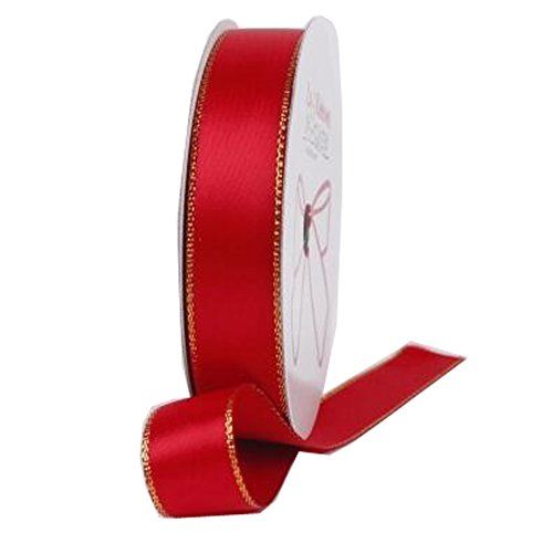 Decorative Riband Ribbon For Party/Wedding Bright Colours Riband, Red by Kylin Express