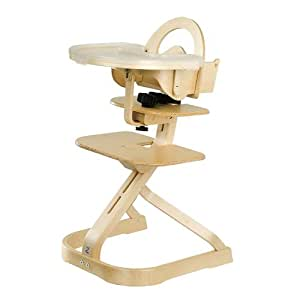 Svan High Chair with Tray Cover - Natural