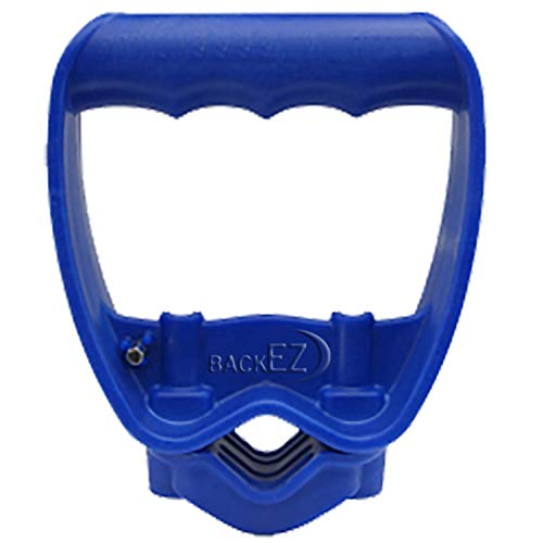 Back-Saving Tool Handle, Labor-Saving Ergonomic Shovel or Rake Handle Attachment, BLUE - Grip Hex Handles