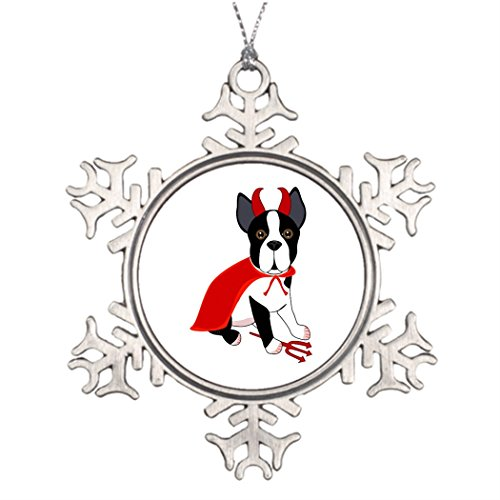 Tee popo Tree Branch Decoration Dressed Up Dog Little Devil Halloween Dog Snowman Snowflake Ornaments