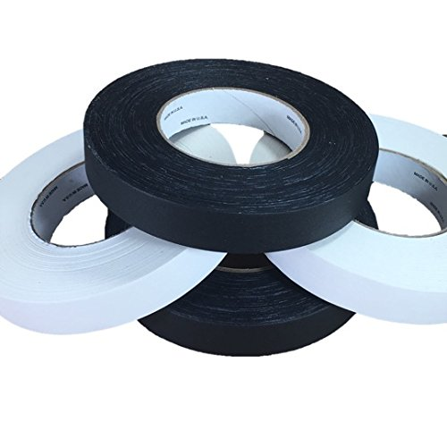 REVO 4 Rolls of Premium Professional Gaffers Tape Camera Tape Impact Tapes 4GAFF160BW Better than Duct Tape 1 x 60 yards Easy to Remove- Non Reflective Tape 2- WHITE GAFFERS MADE IN USA 2- BLACK GAFFERS