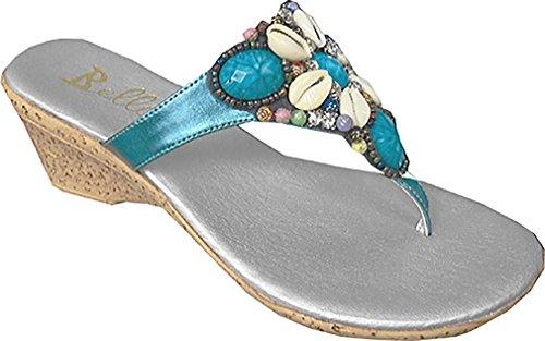 Bellini Women's KONA Strap Blue Fashion Sandals 11 - Bellini Strap