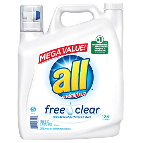 - all Stainlifters Free Mega Clear Value Liquid Laundry Detergent, 184.5 Oz, 123 Loads
