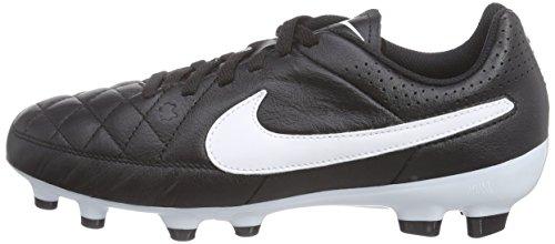 Nike Kids Jr Tiempo Genio Leather FG Soccer Cleat Black/Black/White