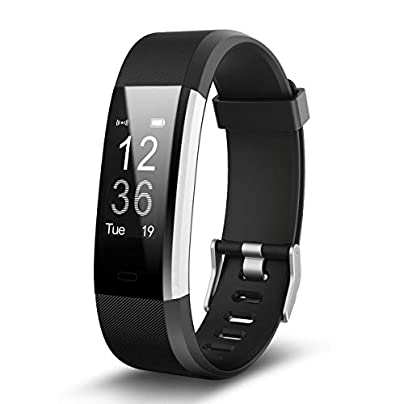 YSCYLY Fitness Tracker Smart Watch Heart Rate Sleep Monitor IP67 Waterproof Sports Wristband Information Reminder for Kids Women and Men Black Estimated Price £49.59 -