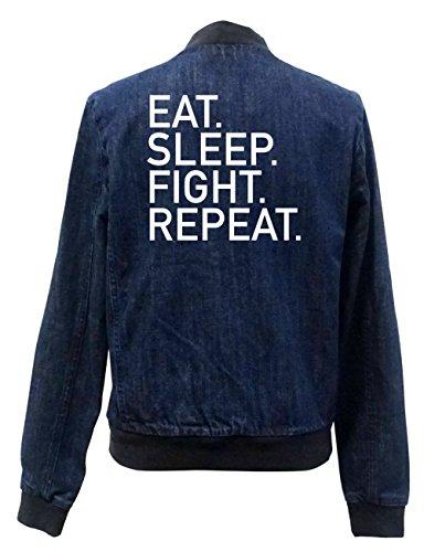 Eat Chaqueta Sleep Fight Jeans Repeat Freak Certified Girls Bomber 5cWOxZw1n