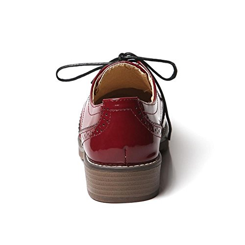 Girl School Red Wine Style KemeKiss Fashion Women Shoes Strap Ankle British Pumps YP7Xw6
