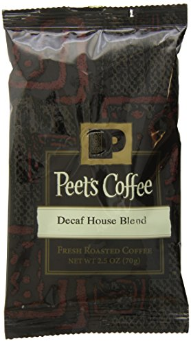 Peet's Coffee & Tea Decaffeinated House Blend Ground Coffee, 2.5-Ounce Fractional Packs (Pack of 18)