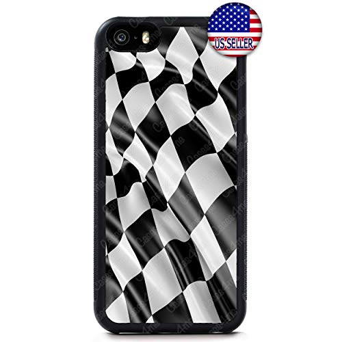 Checkerd Phone Case Formula Race Car Flag Slim Shockproof Rubber Custom Case Cover for iPhone X Xs Max XR 8 Plus 7 6 ()
