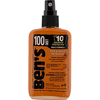 Ben's 100% DEET Mosquito, Tick and Insect Repellent, 3.4 Ounce Pump