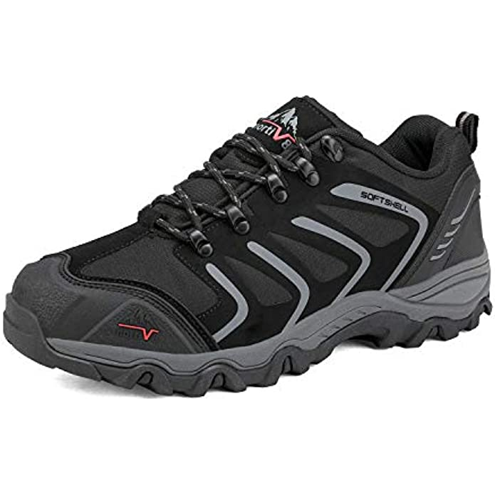 NORTIV 8 Men's Low Top Waterproof Hiking Shoes Outdoor Lightweight Trekking Trails