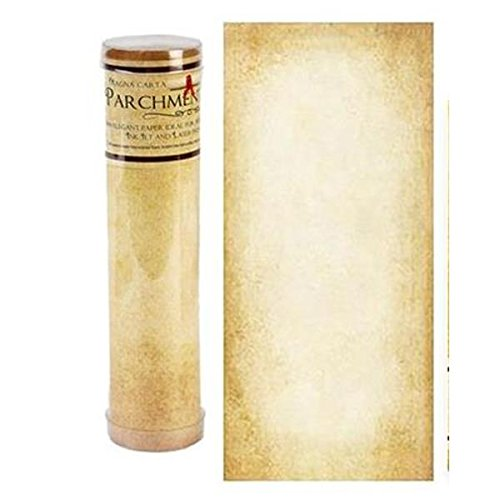 "Aged Parchment Scroll Paper - 8.5x18"" long"