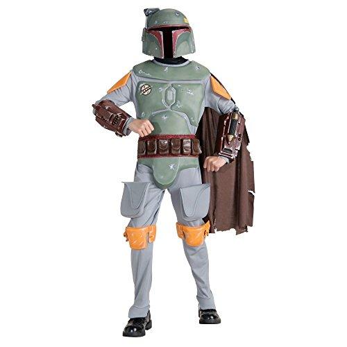 Bobo Fett Costumes (Star Wars Boba Fett Deluxe Child Costume (Large))