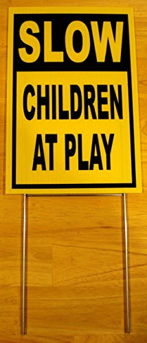 1Pc Leading Popular Slow Children at Play Yard Signs Park Declare Outdoor Decal Property Size 8