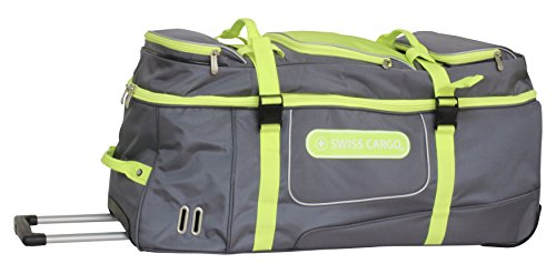 swiss-cargo-trulite-34-inch-wheeled-duffel-gray-green-checked-extra-large