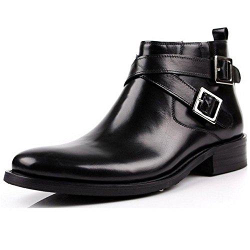 Fashion Men's Boots High Top Business Suits Buckle Winter Boots 41 J1BLy3Utf
