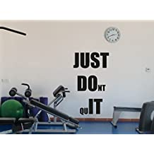 Fitness Gym Wall Decal Just Don't Quit Motivational Fitness Vinyl Sticker Inspirational Wall Decor Fitness Motivation Quote Sport Wall Art Training Workout Wall Mural 96fit