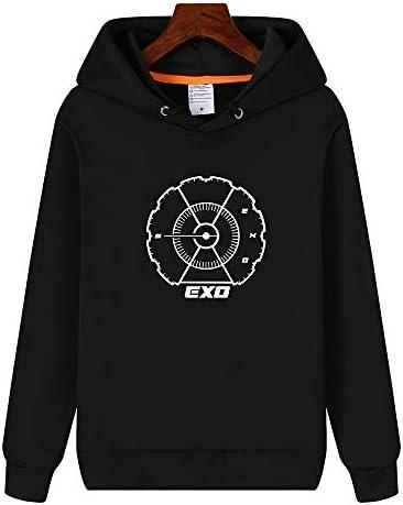 秋 冬 応援グッズ ファッション EXO VIP 長袖 ウェット 男女兼用 パーカー 韓国アイドル 周辺 グッズ