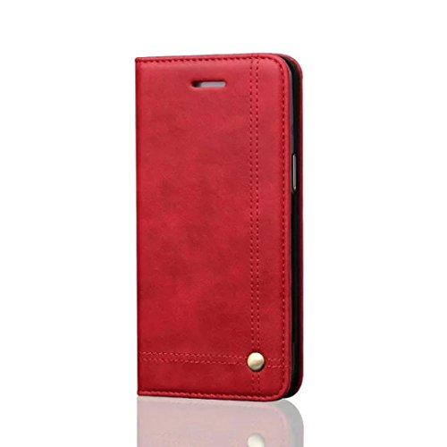 Price comparison product image GBSELL New Wallet Leather Phone Case Cover Film + Stylus For Samsung Galaxy S7 Edge (Red)