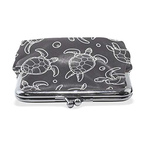 Amazon.com: Monedero negro y blanco de tortuga para mujer ...