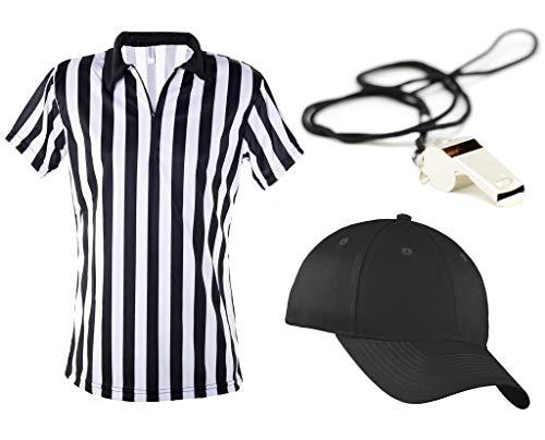 Mato & Hash Women's 1/4 Zip-Up Quarter-Zip Referee Short Sleeve Ref Tee Shirt - Ref Set CA1500 L CA2099 Vel S/M RW1000