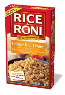 Rice A Roni, Creamy Four Cheese Flavored Rice, 6.4oz Box (Pack of 6)