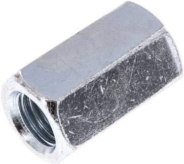 Stahl verzinkt Werkstoff:Stahl verzinkt d:M 20 l:50mm s:30 Verbindungsmuffe f/ür Gewinde-stange M 20