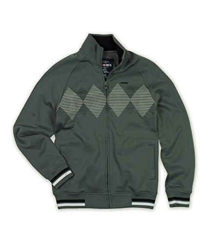 Ecko Unltd. Mens Argyle Full Zip Track Jacket metalgry S