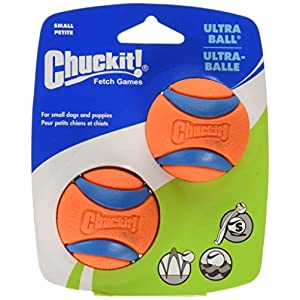 Chuckit Ultra Ball, Durable High Bounce Rubber, Launcher Compatible, 2 Pack, Small 35