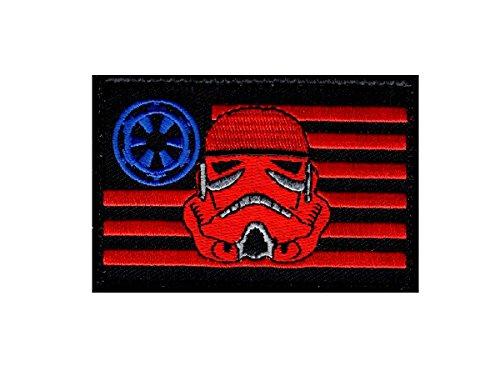 Stormtrooper USA Flag Star Wars Rogue Morale Hook Fastener Patch (3.0 X 2.0 -ST1)