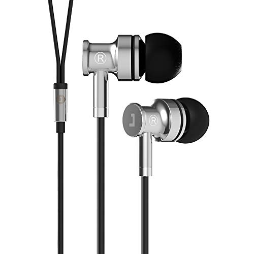 Jayfi JA40 Ear Buds, Full Metal Earphones,in Ear Headphones, Stereo Bass Isolating Wired Earbuds with Microphone