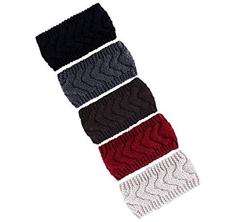 Coobey Knitted Hairband Crochet Twist Ear Warmer Winter Braided Head Wraps for Women Girls
