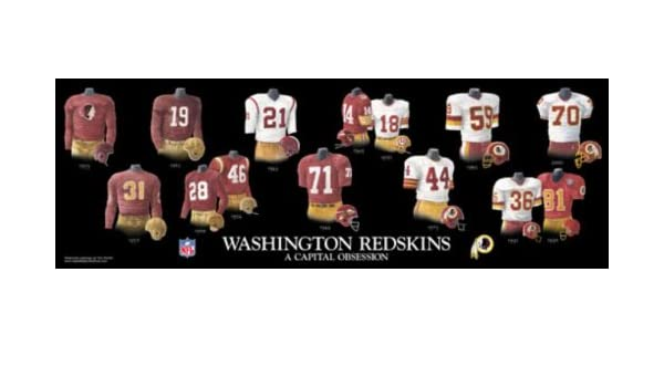 Amazon.com  Framed and Matted Evolution History Washington Redskins  Uniforms Print  Posters   Prints ca29393cf