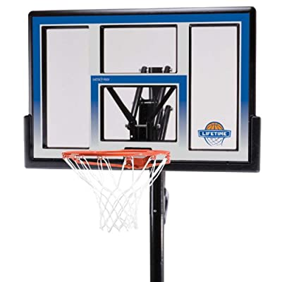 90020 Lifetime In-Ground Fusion 48in Backboard Action Grip Adjustable Basketball System