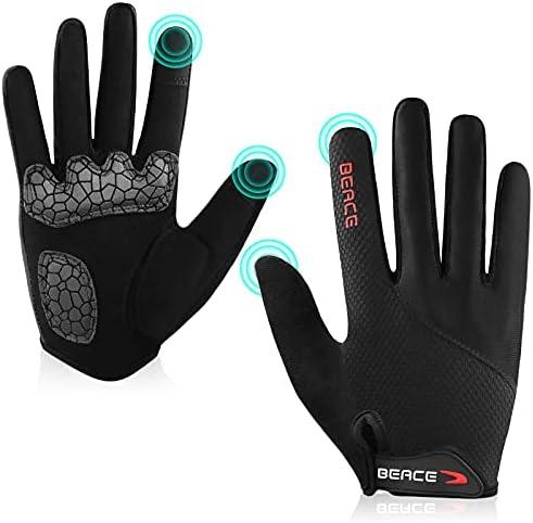 BARNETT BG-01 Long Bike Cycling Gloves Light High-Performance Full Finger White Isolating