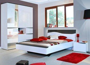 Schlafzimmer Komplett Licht, moderne PERPIGNAN, Farbe ...