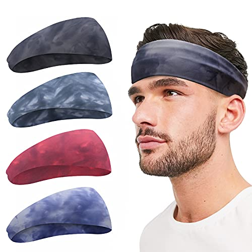 Sports Headband for Men and Women - Lightweight Sweatband Moisture-Wicking Training Sweatbands for Running, Cycling, Yoga, Basketball - Stretchy Unisex Headband