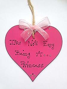 Su no es fácil ser un diseño de princesas Disney! Diseño con texto en inglés de madera Mrs texto