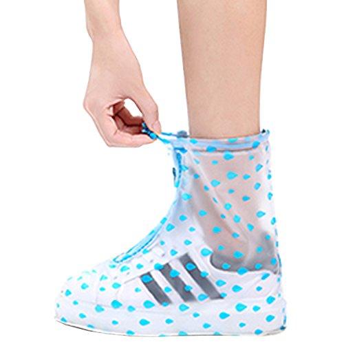 Transparent Women Rain Snow Rain POLO Kids Men Waterproof Blue Adult Point VICUNA Shoes Boots Shoes for qt01H