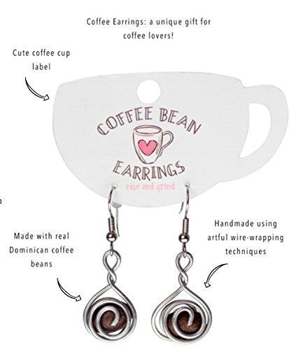 Review Handmade Coffee Bean Earrings for Women | Gift for Coffee Lovers Empowering Women in the Dominican Republic | Madres Jewelry Collective