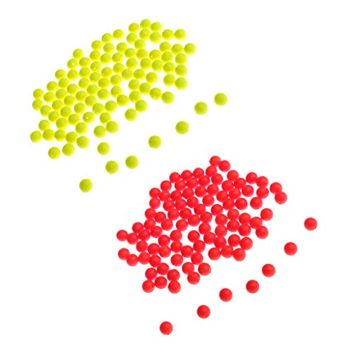 B Blesiya 200Pcs Strike Indicator Fluorescent Fishing Floating Floats Fly Fishing Buoy Bobbers Accessories 8.3mm
