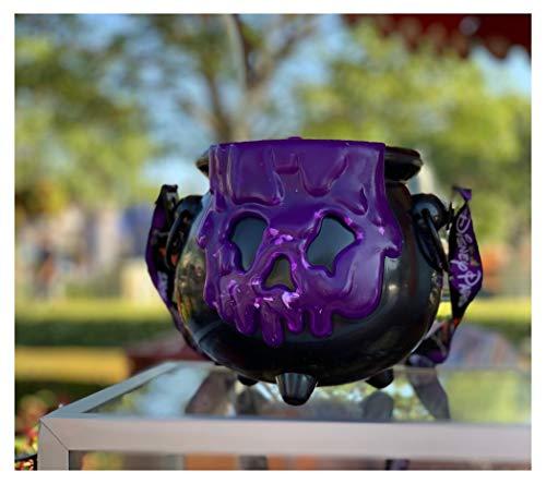 Halloween At Disneyland 2019 (Halloween 2019 Disney Purple Poison Apple Light UP Cauldron Popcorn Bucket Annual Passholder Theme Park)
