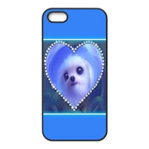 IPhone 5,5S Case Love Dog, Phone Case for Iphone 5s for Girl - [Black] TyquinBY autodiy