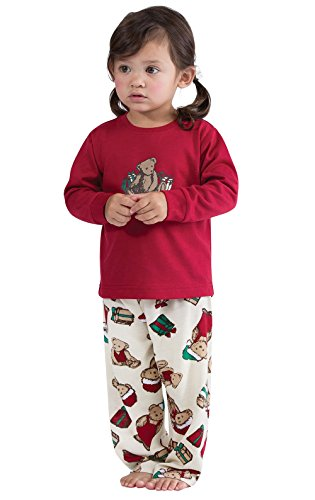 eddy Bear Christmas Infant Pajama Set, Red, 12 months ()