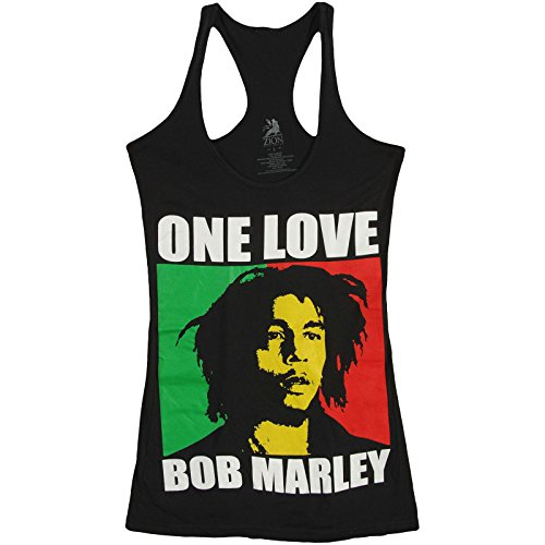 Bob Marley Women's One Love Racer Tank Black XL