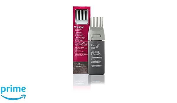 Viviscal Fibra capilar volumatrice con peine aplicador marrón oscuro 15 g: Amazon.es: Salud y cuidado personal