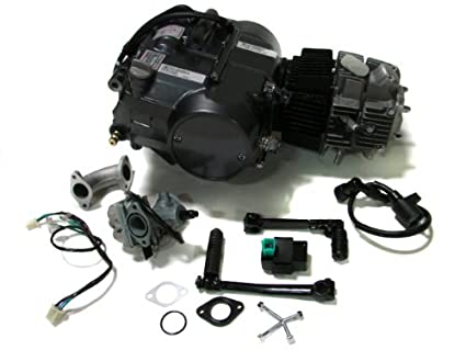 amazon com tms lifan 125cc 1p52fmi k engine dirt bike motor carb rh amazon com