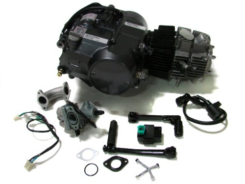 TMS Lifan 125cc 1P52FMI-K Engine Dirt Bike Motor Carb Complete for Honda XR50 CRF50 XR CRF 50 70 ATC70 Z50 CT70 CL70 SL70 XL SDG Dirt Pit Bike Motorcycle